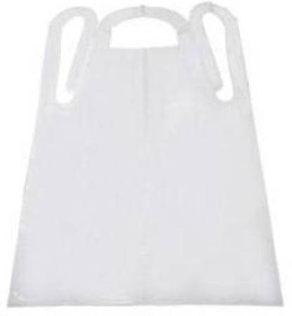 Tidi Products Apron, White, One Fits Most, Box of 100 - Model 10412