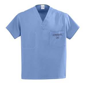 100% Cotton Unisex Reversible Hyperbaric Scrub Top - 100%Cotton, Ceil, Xl, Each - Model 658MHSXL-CM