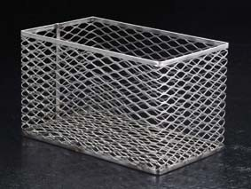 Black Machine Test Tube Baskets, Stainless Steel, Model SS305/D, Each