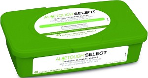 Aloetouch SELECT Premium Spunlace Personal Cleansing Wipe - Scented, 8X12, Box of 12