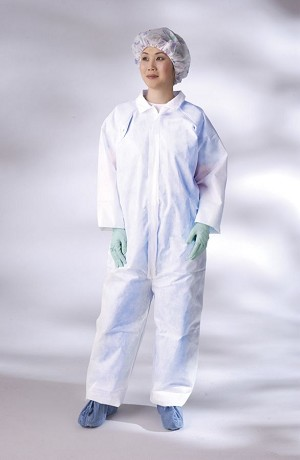 Classic Breathable Coverall - Brthble, Strght Wrst/Ank, Wht, 2Xl, Box of 25 - Model NONCV300XXL