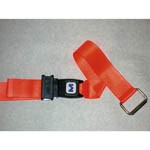 Pathoshield Plastic Strap - Metal push button buckle with Swivel Speed Clips, 5', Orange