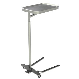 "UMF Medical Mayo Instrument Stand - Foot Pedal Adjustment, 16"" x 21"" Tray - Model SS8311, Each"