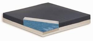 Bluechip Medical Gel Pro Elite Seat Cushion 17 X 2 1 Inch Foam Black White Each Model 6204
