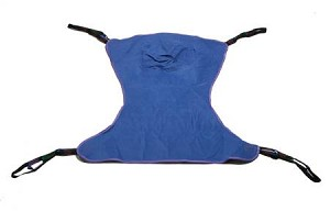 Full Body Sling 4 or 6 Points With Head Support Straps - Attached Large 450 lbs, Blue, Each