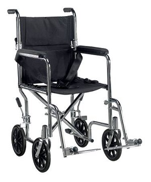 Drive Medical Self Propelled Wheelchair / Transport Chair Aluminum 250 lbs Fixed Arms Black, Each - Model TR18
