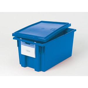 HCLS Plastic Tote, Small, Blue, Each