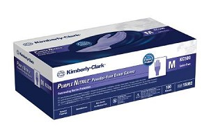 KC500 PURPLE NITRILE Exam Glove, NonSterile Powder Free Nitrile Textured Fingertips Purple Large