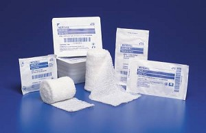 Kendall Kerlix Conforming Dressing, Gauze 6-Ply 4 1/2 Inch X 4 1/10 Yard Roll, White, Each - Model 6715