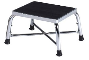 entrust Performance Step Stool, Bariatric 1-Step Chrome Plated Steel 8-3/4 Inch, Each