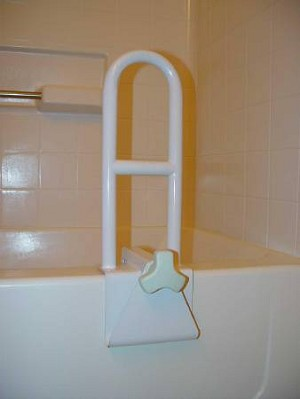 McKesson sunmark Bath Tub Grab Bar, 6W X 14H Inch White - Model 128-5840