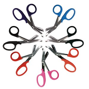 "MooreBrand Medicut Scissors, 7 1/4"", Black, Each"