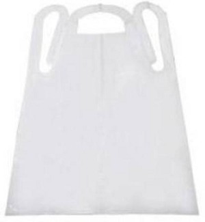 Tidi Products Apron, White, One Fits Most, Pkg of 1000 - Model 10412