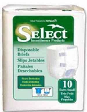 Tranquility Select Ultrablend  Brief, 45-58 Inch Large Blue 17.7 Oz, Heavy Absorbency, Pkg of 72
