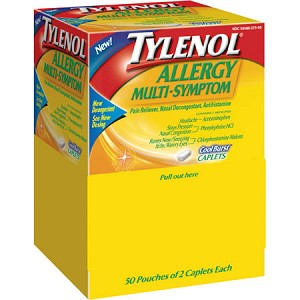Tylenol Allergy Multi Symptom Caplets, 50 Pkg of 2